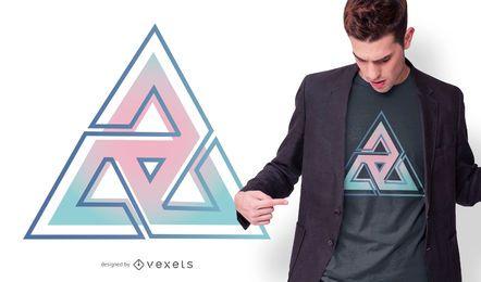 Design de t-sirt de triângulo gradiente