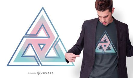 Diseño de triángulo degradado t-sirt