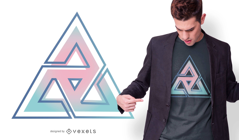 Gradient triangle t-sirt design