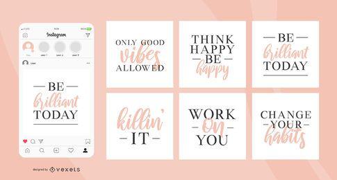 Belas citações em mídias sociais