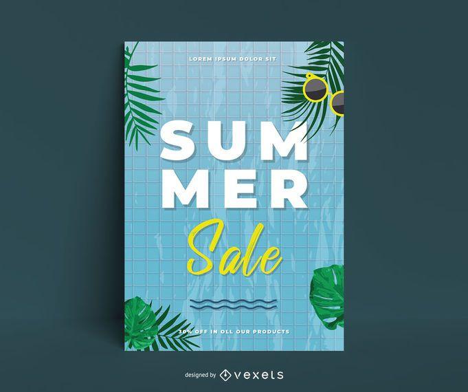 Summer sale poster template
