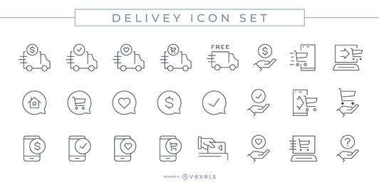 Delivery Stroke Icon Set