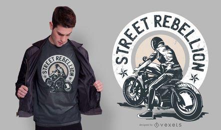 Design de camiseta com citações de motociclista