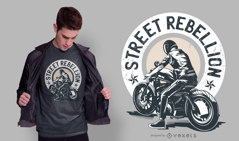 Diseño de camiseta Biker Quote
