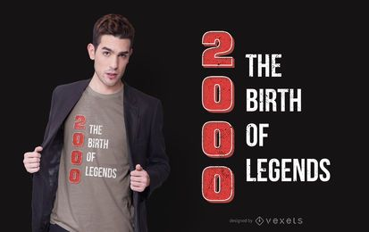 Diseño de camiseta Legend Birthday Quote