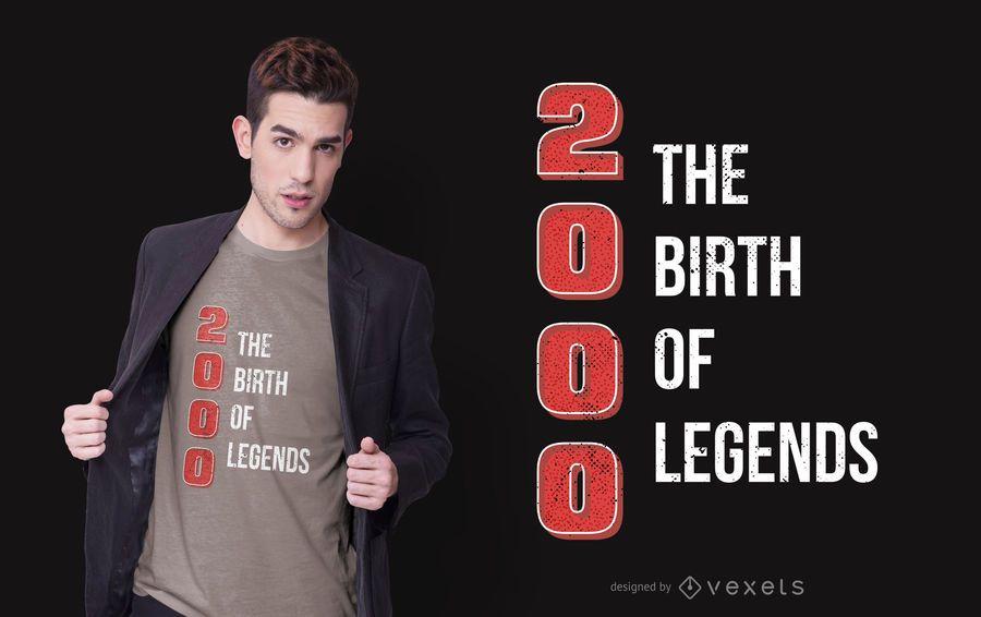 Legend Birthday Quote T-shirt Design