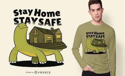 Projeto do t-shirt das citações da casa da tartaruga