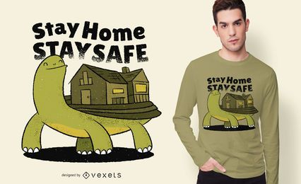 Turtle Home Quote T-shirt Design