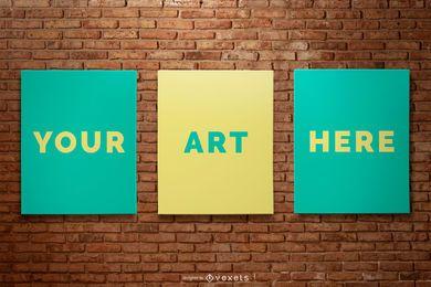 Wall Poster Mockup Set