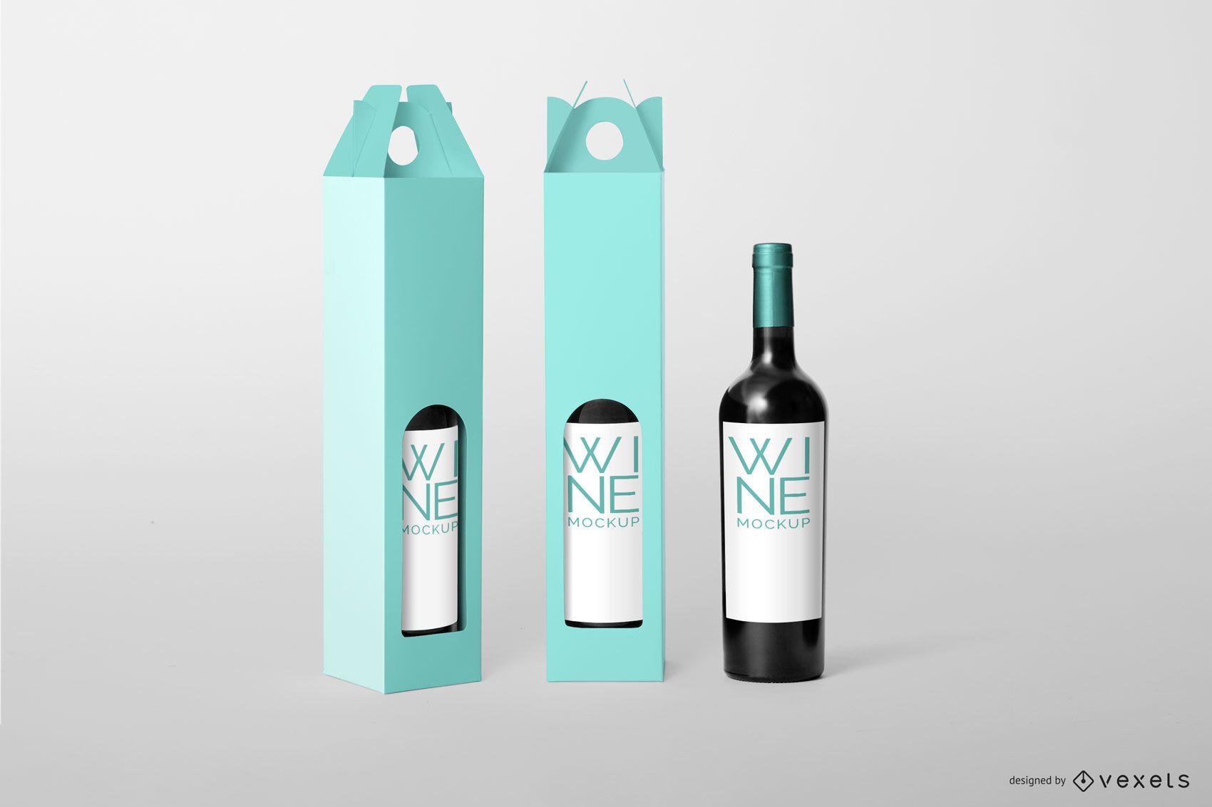 Wine Packaging Editable Mockup