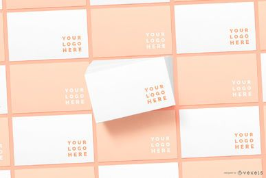 Envelope Pattern Stationery Mockup