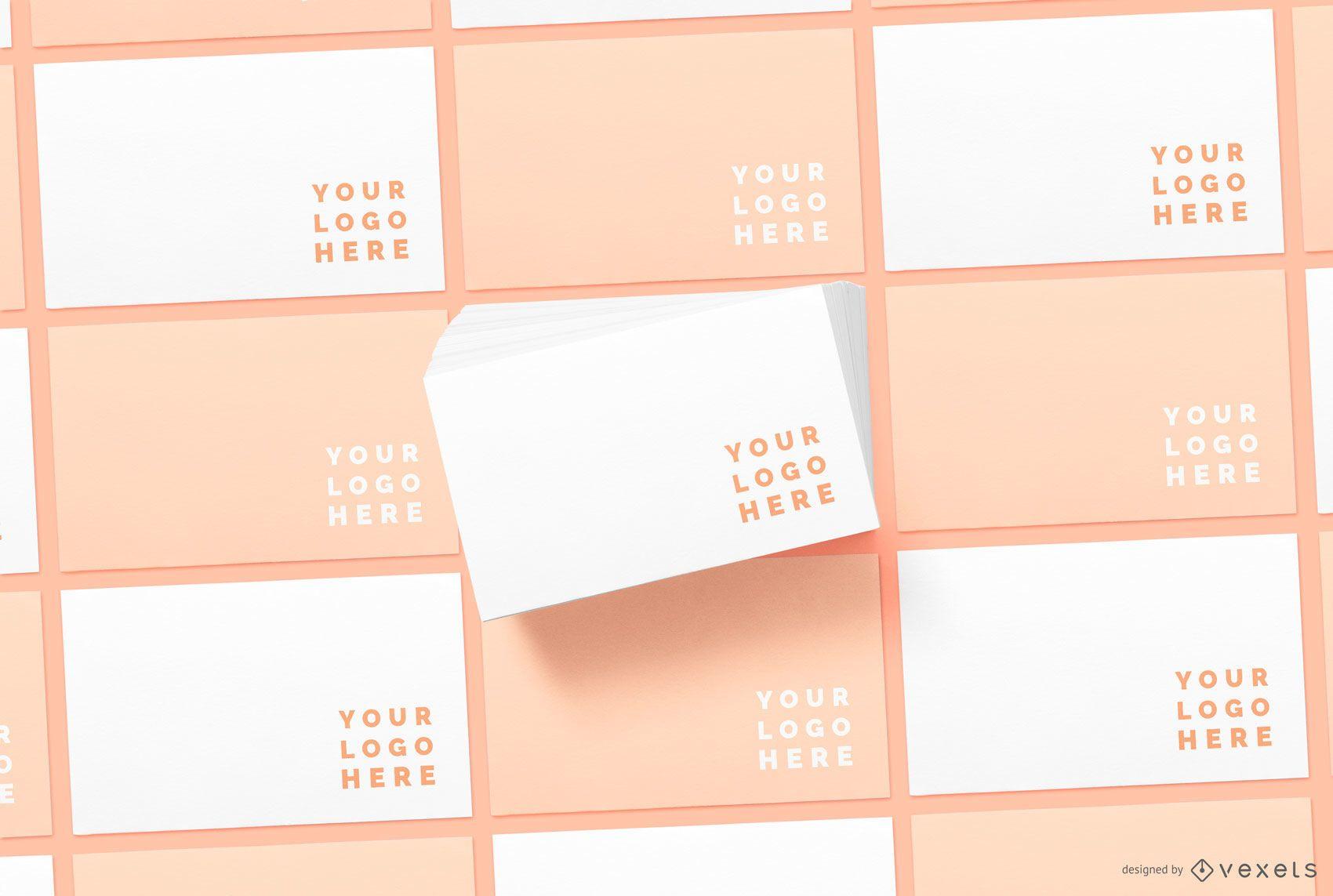 Envelope Pattern Stationery Mockup