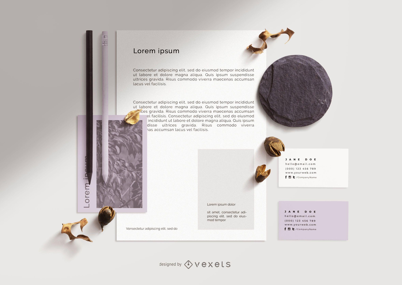 Composição de maquete de branding profissional