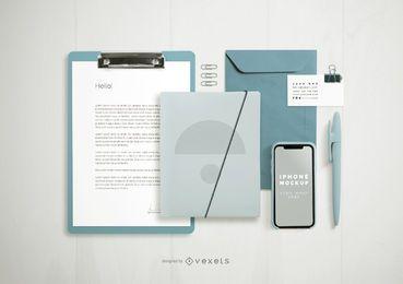 Maqueta de elementos de composición de marca formal