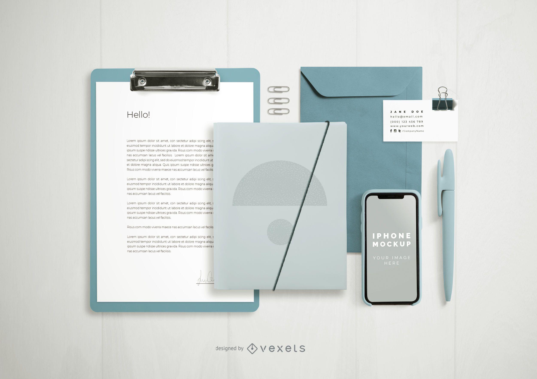 Formal Branding Composition Elements Mockup
