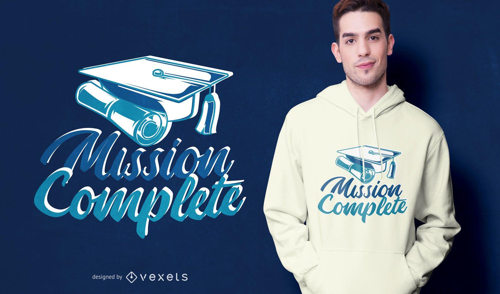 Diseño de camiseta de cita divertida de graduación