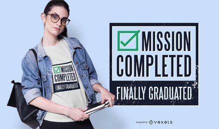 Diseño de camiseta de texto divertido de graduación