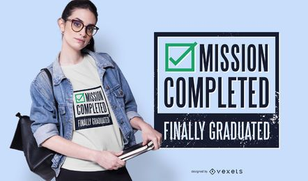 Projeto engraçado do t-shirt do texto da graduação