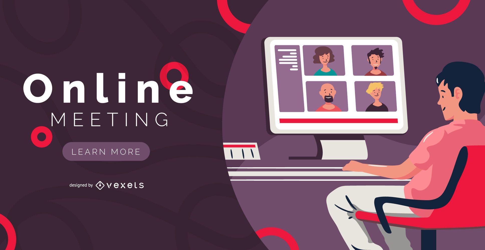 Online Meeting Banner Design