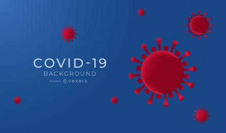 COVID-19 Simple Background Design