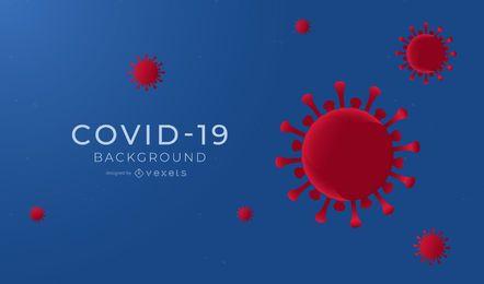 Diseño de fondo simple COVID-19