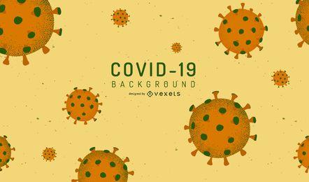 Diseño de fondo del virus COVID-19