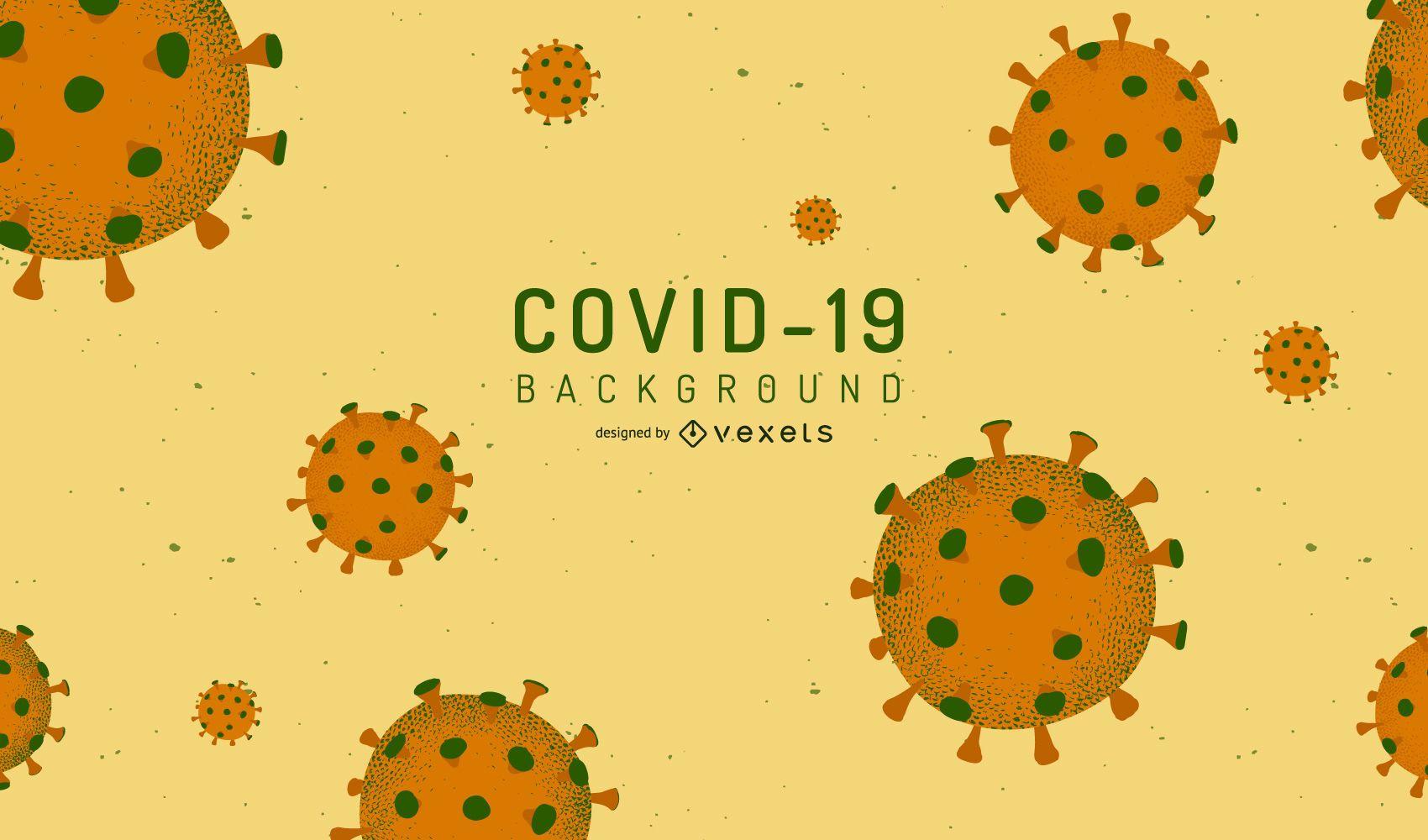 COVID-19 Virus Background Design