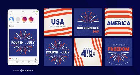 Post de mídia social do dia da independência