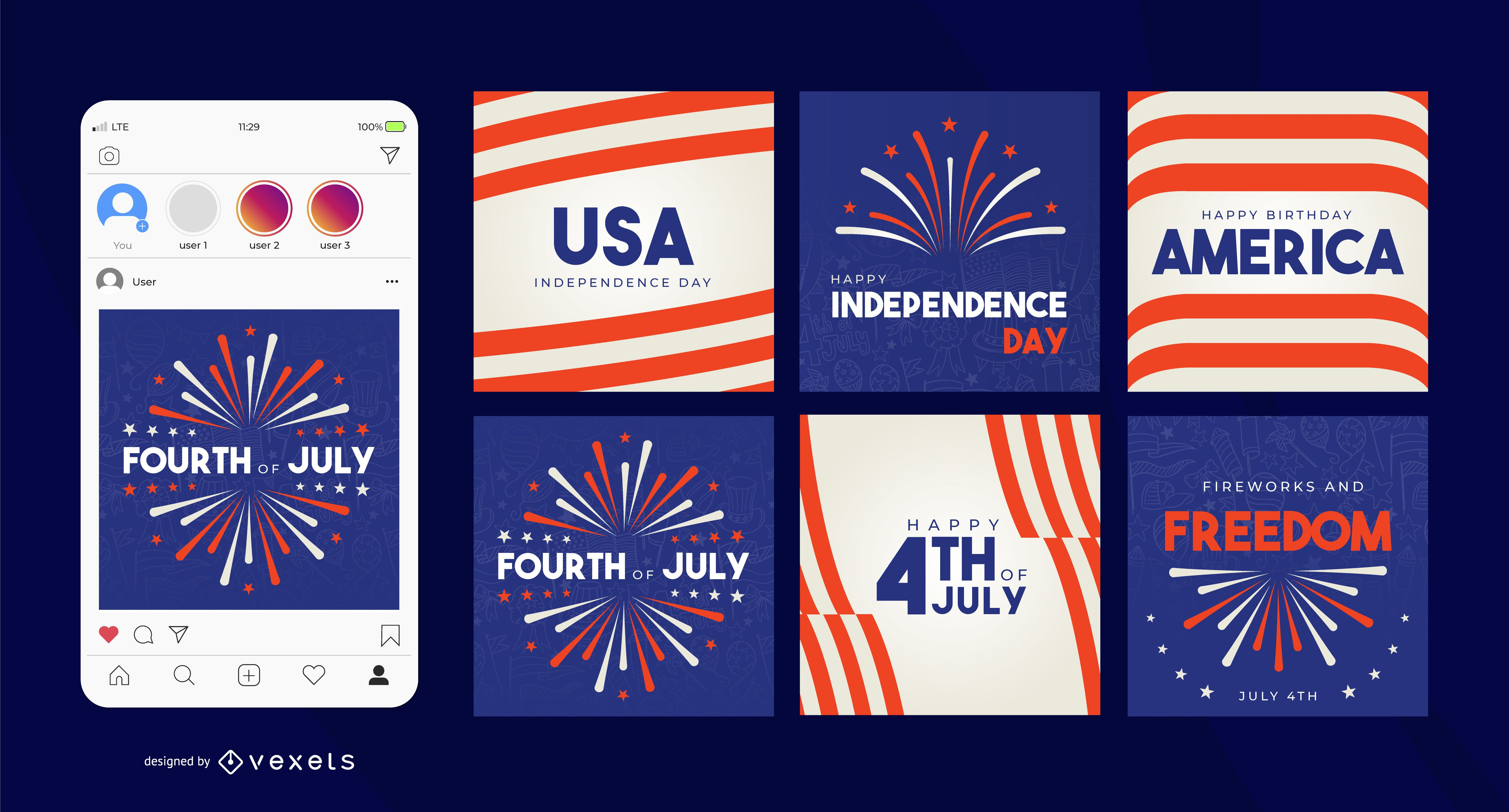 Independence day social media post