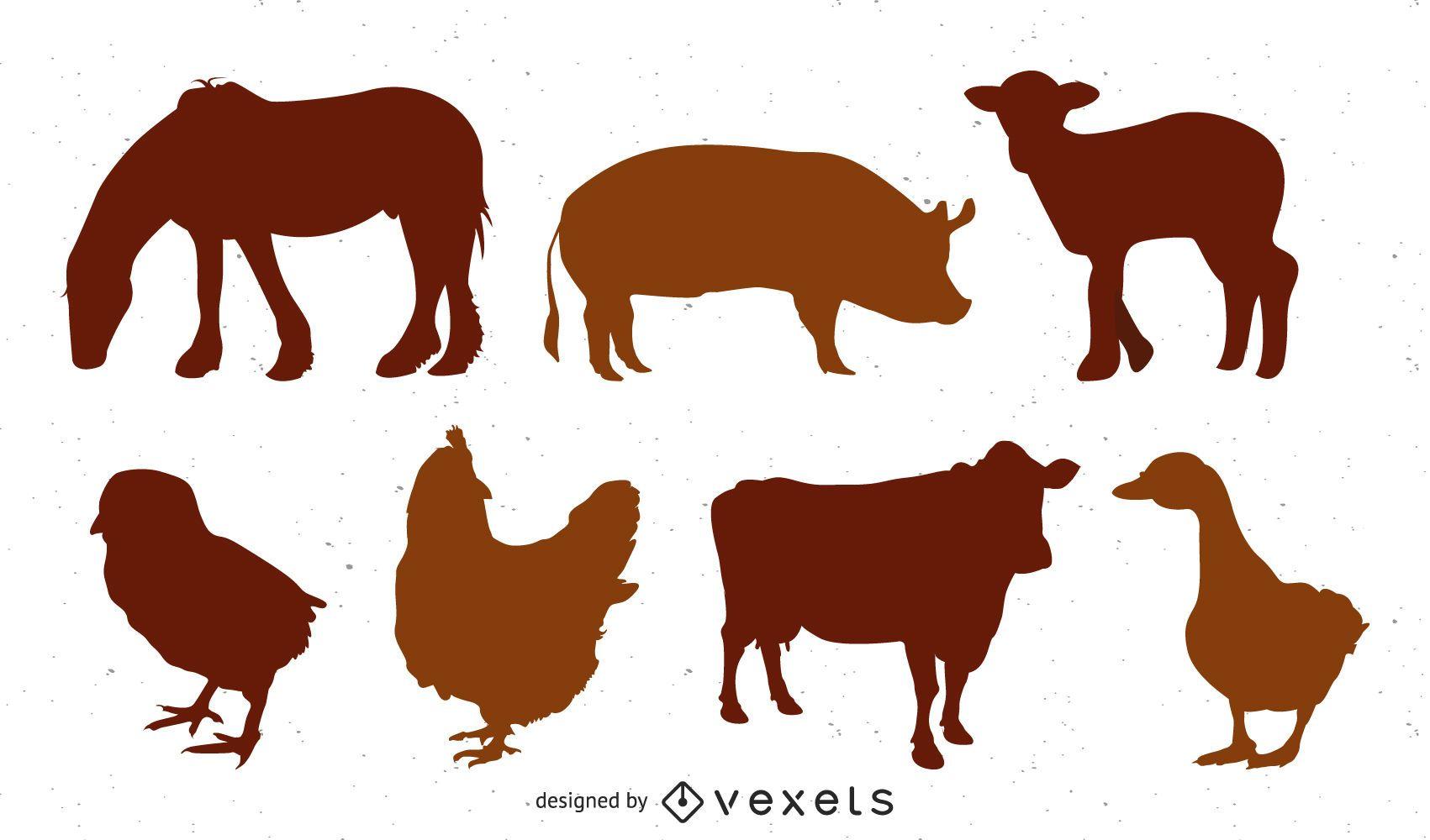 Gráficos vetoriais de animais de fazenda