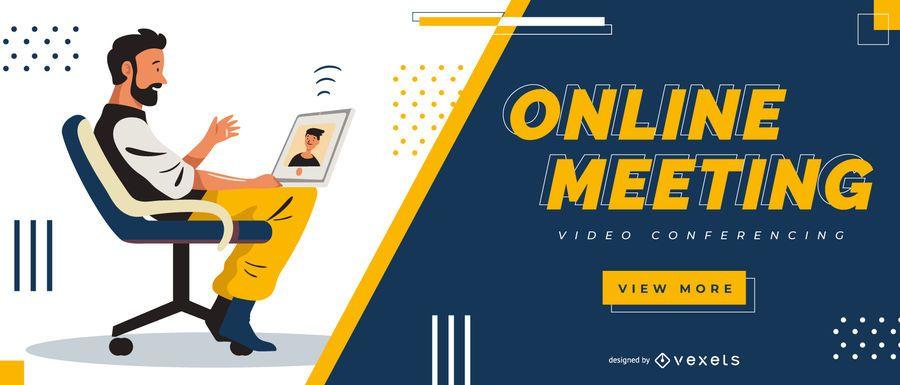 Online meeting slider template