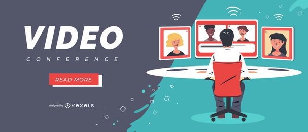 Video conference slider template
