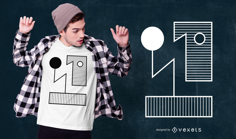 Bauhauhs Style Abstract T-shirt Design