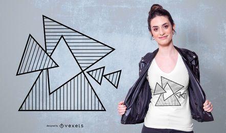 Projeto de t-sirt de triângulos geométricos