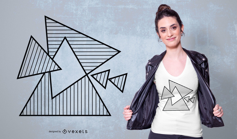 Desenho de triângulos geométricos t-sirt