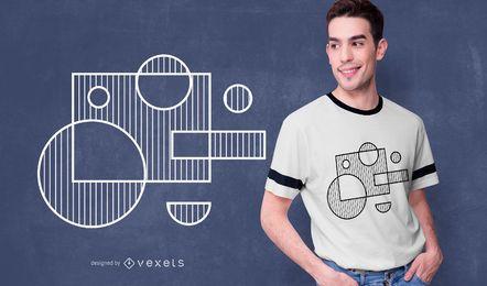 Diseño de camiseta de formas geométricas minimalistas