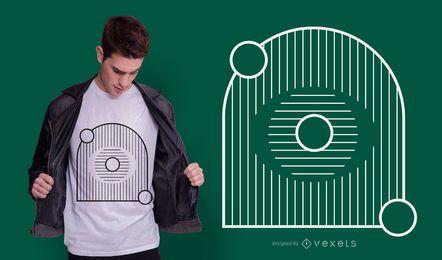 Design geométrico de camiseta abstrata de olho