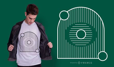 Geometric Eye Abstract T-shirt Design