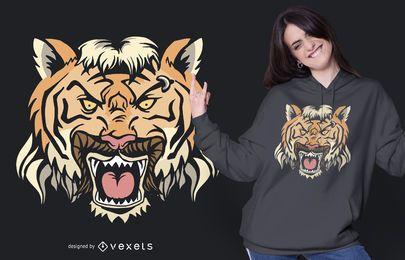 Diseño de camiseta Tiger Mullet