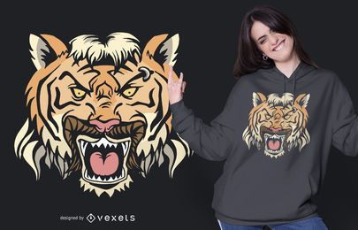 Tiger Mullet T-shirt Design