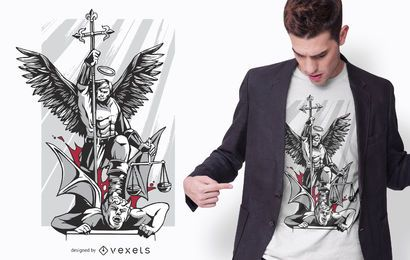 Saint Michael T-Shirt Design