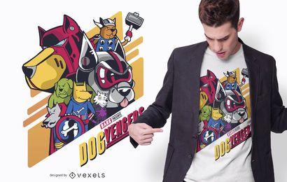 Diseño de camiseta Dogvengers