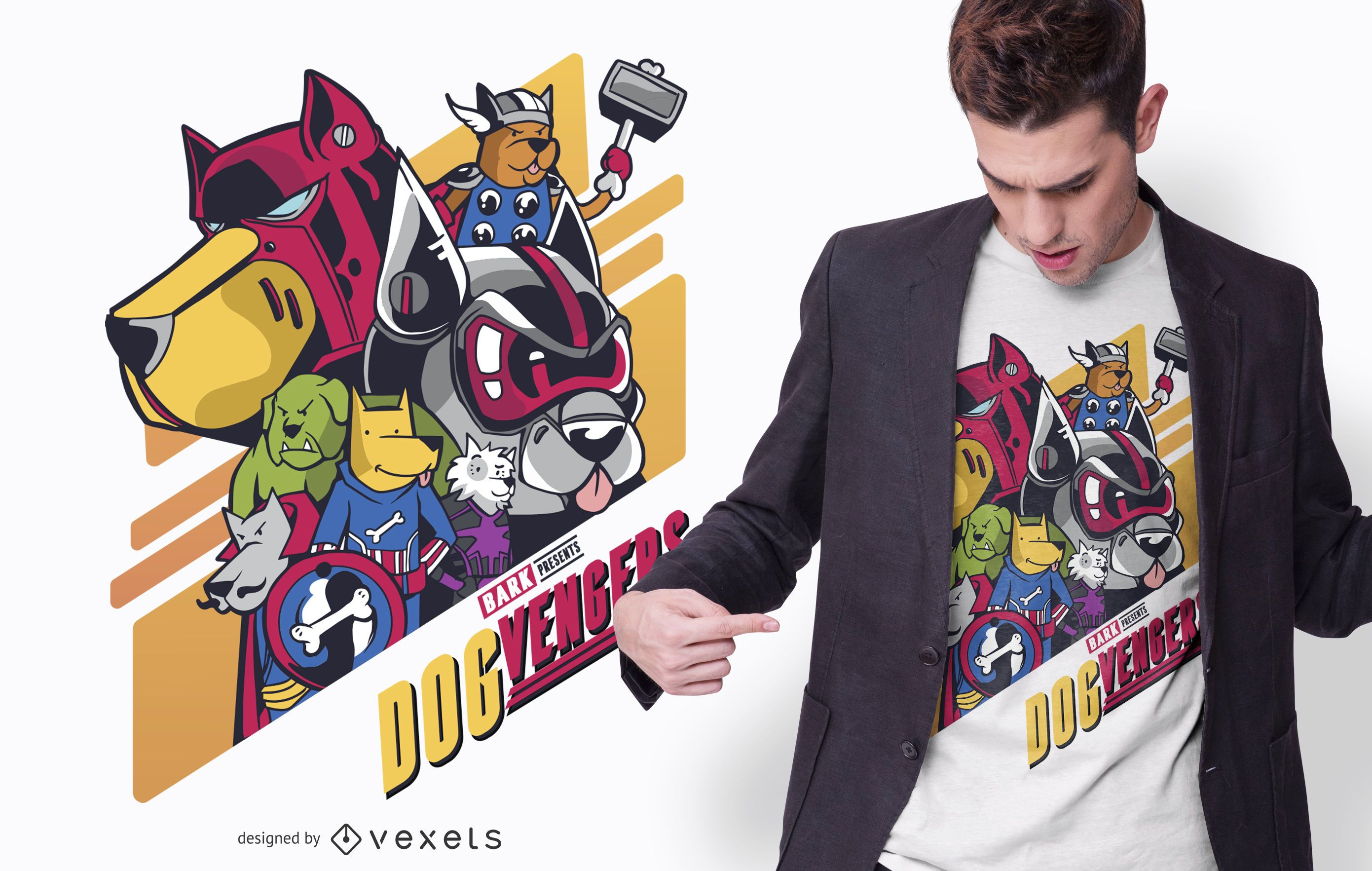 Design de camisetas Dogvengers