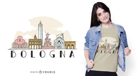 Bologna skyline t-shirt design