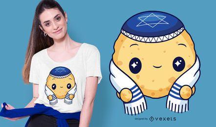 Diseño de camiseta con bola de matzá
