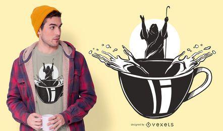 Design de t-shirt de café Moses