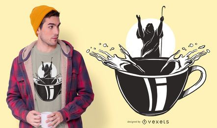 Diseño de camiseta Moisés café