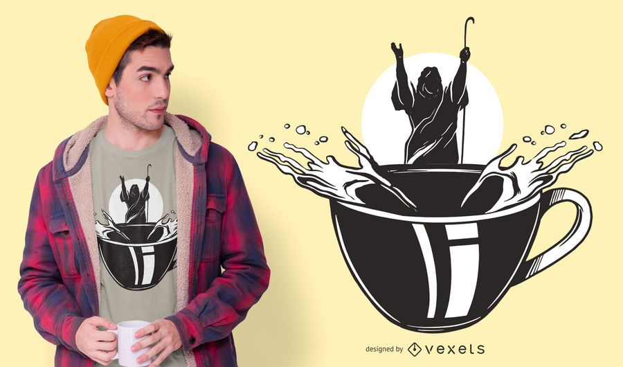 Moses coffee t-shirt design