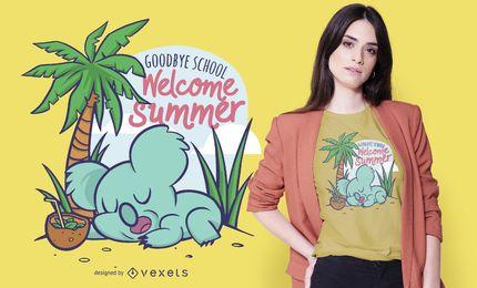 Design de t-shirt de verão coala