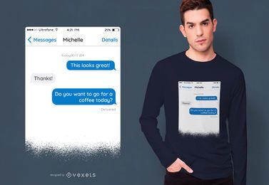 Diseño de camiseta de mensaje de texto
